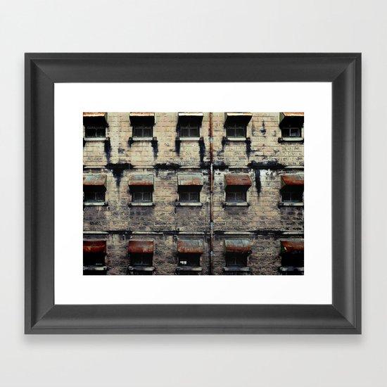 Facade of Neglect Framed Art Print