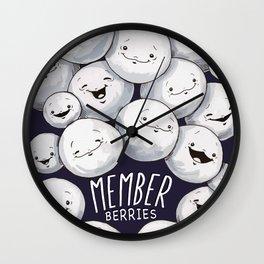 Member Berries, Member?! Wall Clock