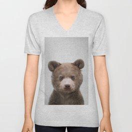 Baby Bear - Colorful Unisex V-Neck