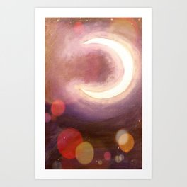 Equinox Moon Art Print