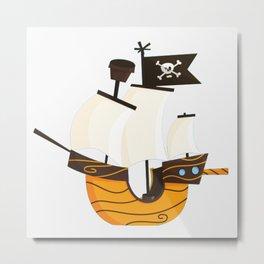 Pirate caravel Metal Print