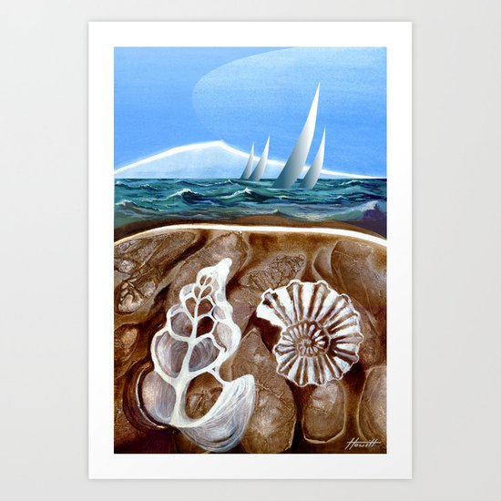 The Geology of Boating Art Print