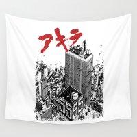 akira Wall Tapestries featuring Kaneda by ujangajojing