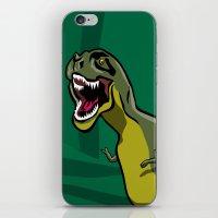 t rex iPhone & iPod Skins featuring T-Rex by Janusz Kali Kaliszczak