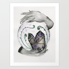 Black Magic Crystal Ball Art Print