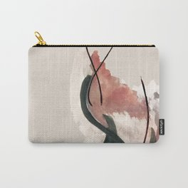 Storm: a minimal abstract mixed media piece in red white and blue Carry-All Pouch