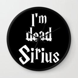 I'm dead Sirius II Wall Clock