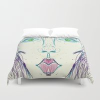 vogue Duvet Covers featuring Somebody Call Vogue by writingoverashes