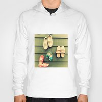 wooden Hoodies featuring Wooden shoes by Julia Tomova