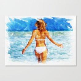 Enjoying The Solitude Canvas Print