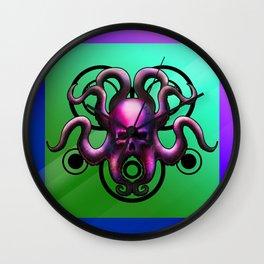 Skull Octopus Wall Clock