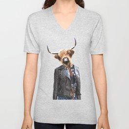 Cow Girl Unisex V-Neck