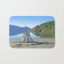 LATE SUMMER ON CRESCENT BEACH ORCAS ISLAND Bath Mat