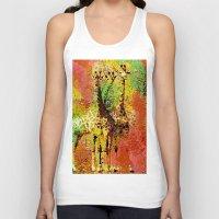 giraffe Tank Tops featuring Giraffe  by Saundra Myles