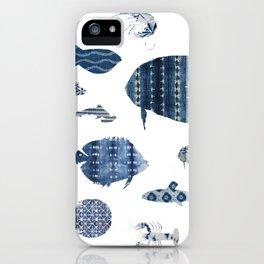 Shibori Sea iPhone Case