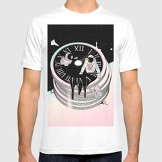 Immersed in Time White MEDIUM Mens Fitted Tee