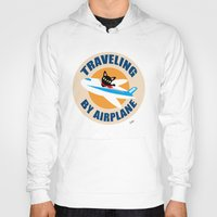 airplane Hoodies featuring Airplane by BATKEI