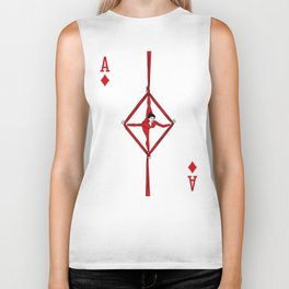 Sawdust Deck: The Ace of Diamonds Biker Tank