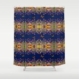 Neon Maximalist Garden Shower Curtain
