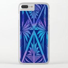 Tapa/Siapo Polynesian bark cloth art (Samoan) Clear iPhone Case