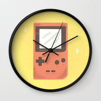 gameboy Wall Clocks featuring Gameboy by Things and Other Things