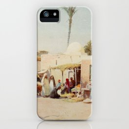 Kelly, Robert Talbot (1861-1934) - Egypt 1903, A corner in the market-place iPhone Case