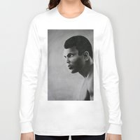 ali Long Sleeve T-shirts featuring Ali by pat langton