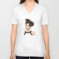 moschino V-neck T-shirts featuring Moschino Fall 2012 by Kafie Martin