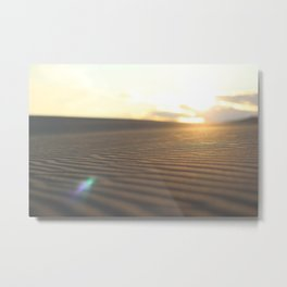 SILVER SANDS IN COLOR Metal Print