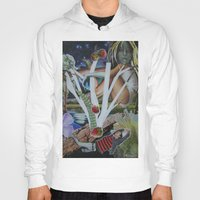 mythology Hoodies featuring Pyramus & Thisbe Collage Mythology Romeo and Juliet by FountainheadLtd