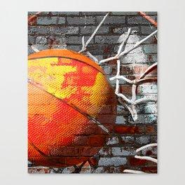 Basketball art swoosh vs 13 Canvas Print