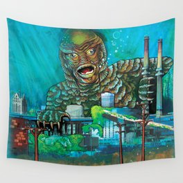 MILWAUKEE: It Came From Lake Michigan Wall Tapestry