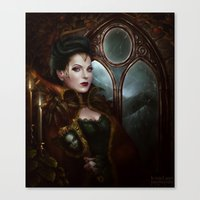 regina mills Canvas Prints featuring regina by krayis