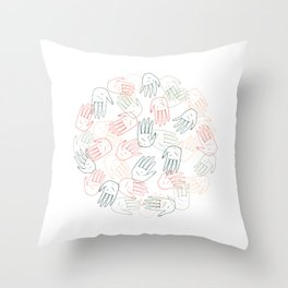 Hands On Throw Pillow