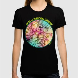 Enter the Branching Sequence - Pencil Sketch Illustration T-shirt