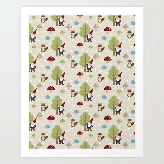 Woodland Forest Art Print