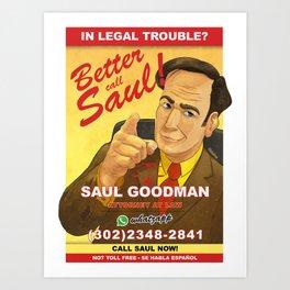 Better Call Saul Print Art Print