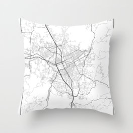 Minimal City Maps - Map Of Escondido, California, United States Throw Pillow