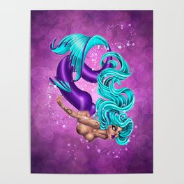 Valentine Mermaid Poster