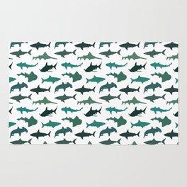 Green Sharks Rug