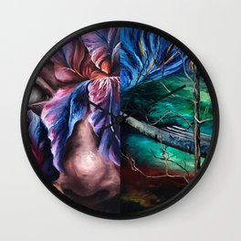 Painting Collage Wall Clock