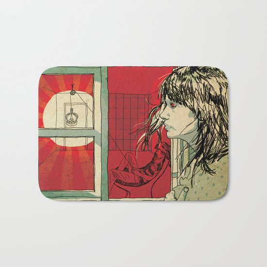 hang this girl Bath Mat