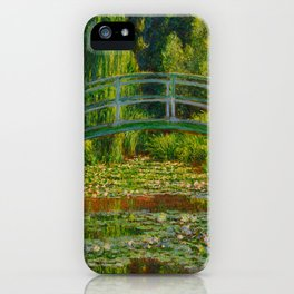 Claude Monet Impressionist Landscape Oil Painting-The Japanese Footbridge and the Water Lily Pool, iPhone Case