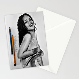 Rihanna smile: portrait by Michael Cerimonia Stationery Cards