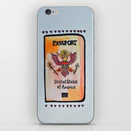 ticket to the world iPhone Skin