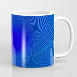 Electric Blue Swirl Coffee Mug
