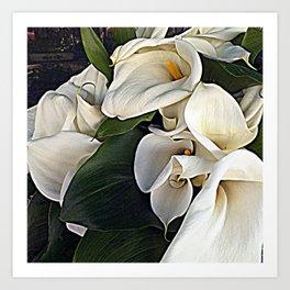 Calla Flower Disordered Bouquet Art Print