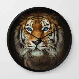 Wild Tiger with Blue eyes Wall Clock