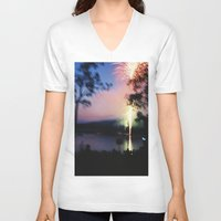 camp V-neck T-shirts featuring camp by Michael Jack