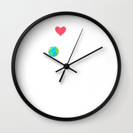 Love Your Mother Earth Hipster Novelty Wall Clock